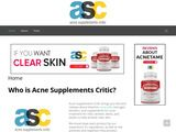 Acne Supplements Critic | Reviews for Acne Vitamins, Pills and Supplements