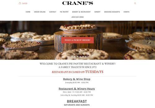 Crane's Pie Pantry Restaurant