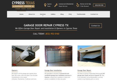 Garage Doors in Cypress TX