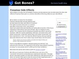 HealthDiaries.com: Fosamax Side Effects
