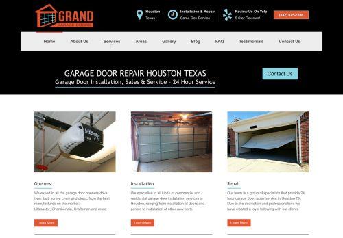 Grand Garage Door | Garage door installations and repairs in Houston TX
