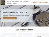 Horlick Levitt Di Lella LLP | Ontario Personal Injury, Civil and Commercial Litigation Lawyers