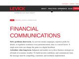 LEVICK: Financial Communication