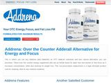 Over the counter natural Adderall alternative supplements | OTC stimulants for energy Addrena