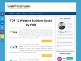SuperbWebsiteBuilders | Website Builders reviews and comparisons