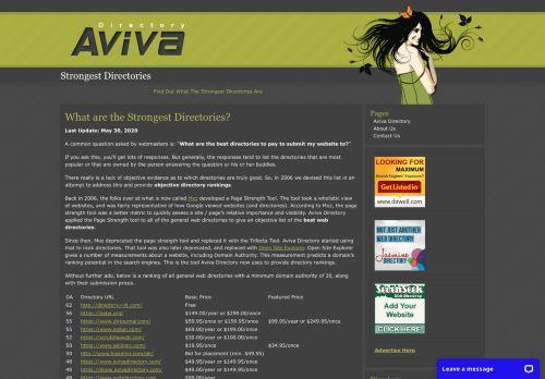 Aviva Directory: Strongest Directories