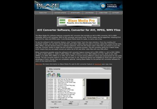 Blaze Media Pro: AVI Converter