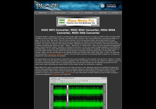 Blaze Media Pro: MIDI Converter