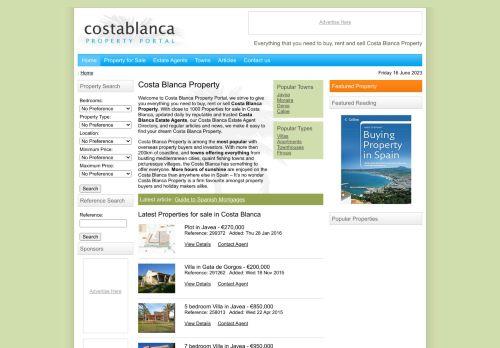 Costa Blanca Property Portal