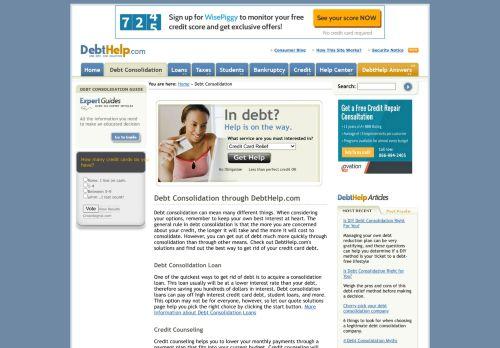 DebtHelp: Debt Consolidation