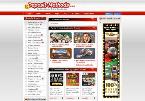 Deposit-Methods.com