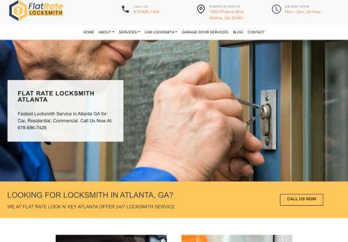 Flat Rate Locksmith Atlanta