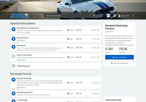 Modded Mustangs: Forums