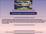 Mountain Lodging Vacation Cabin Rentals