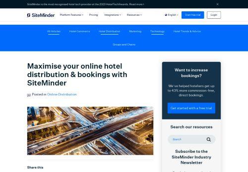 SiteMinder Online Hotel Distribution
