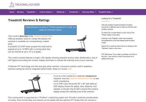 Treadmill Adviser