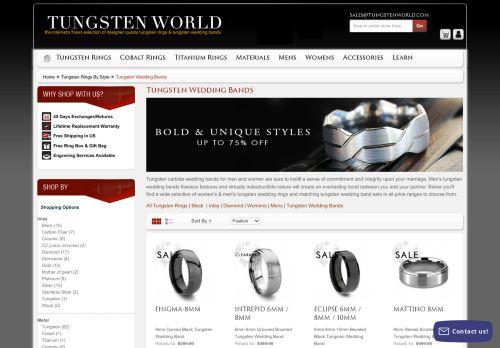 Tungsten World: Wedding Bands