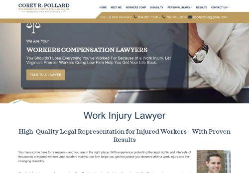 Corey Pollard Law | Worker Compensation Attorney in Virginia