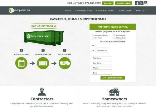 Dumpsters.biz Roll Off Dumpster Rentals