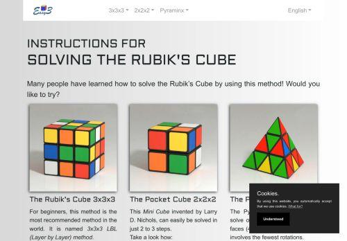 EasyCube3 | Instructions for solving the Rubik's cube