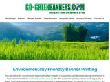 Go Green Banners and Printing