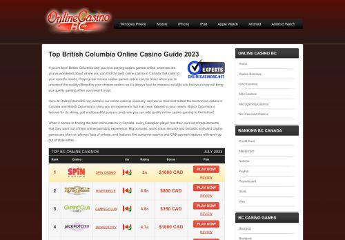 Online Casino BC Canada