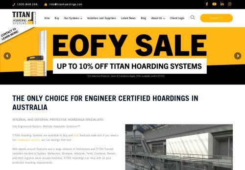 Titan Hoarding Systems Australia