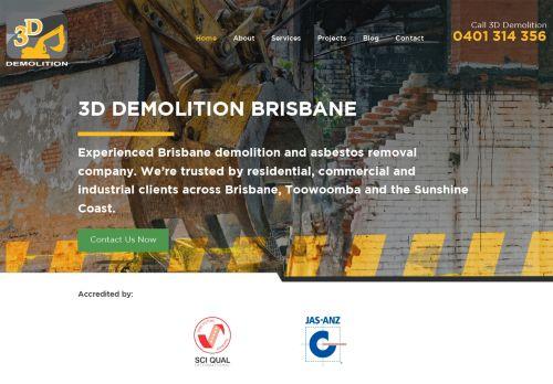 3D Demolition in Brisbane Australia