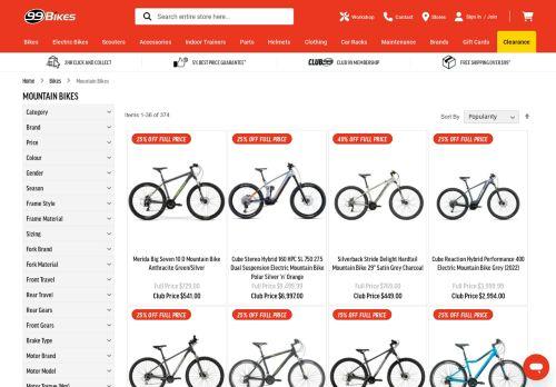 Mountain Bikes at 99 Bikes