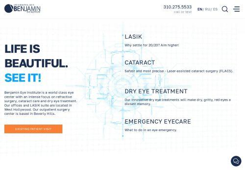 Benjamin Eye Institute | Eye Doctor in Los Angeles CA