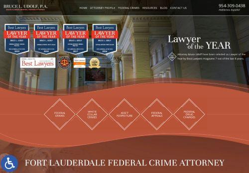 Bruce L. Udolf, P.A.   Federal crime attorney in Fort Lauderdale FL