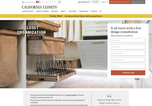 California Closets | Closet Organization and Custom Closet Solutions