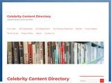Celebrity Content Directory
