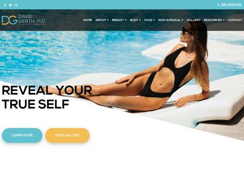 Dr. David Gerth MD   Plastic Surgeon in Miami Beach FL