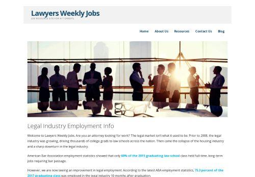 Lawyers Weekly Jobs