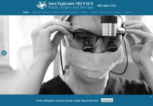 Sara Yegiyants, M.D.   Plastic Surgeon in Santa Barbara CA